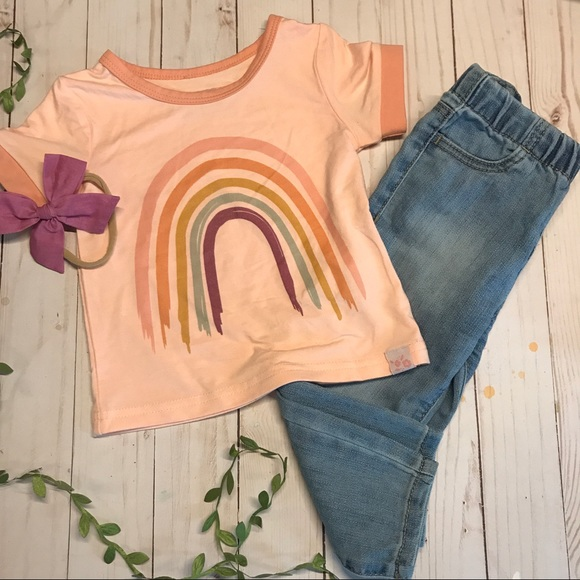 NEW NWT Carter/'s 3 Piece Vest Set Newborn 3 6 9 12 Months Rainbows Jeggings